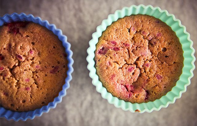 nemme hindbærmuffins opskrift