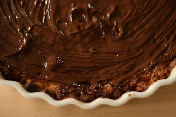 Chokoladefyld på jordbærtærte