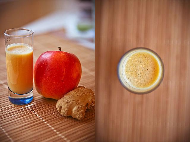 ingefær shot med æble