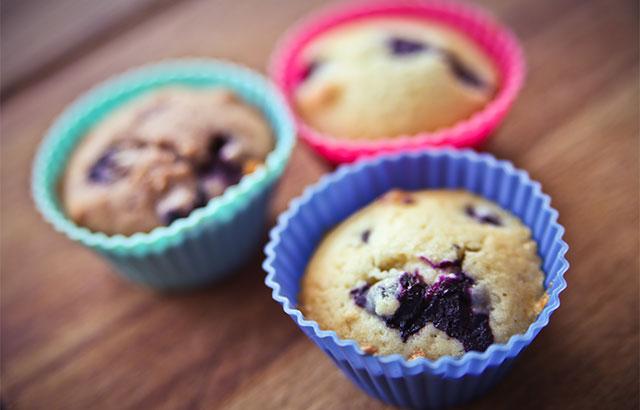 lækre blåbærmuffins
