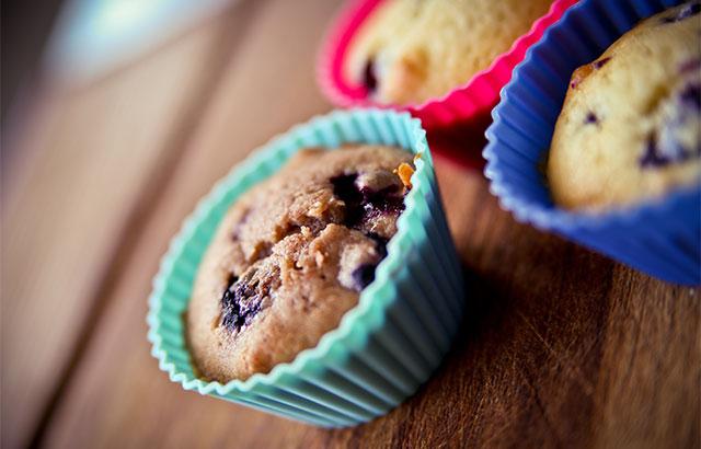nemme blåbærmuffins