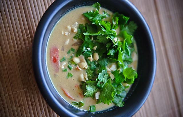 thaisuppe med oksekød