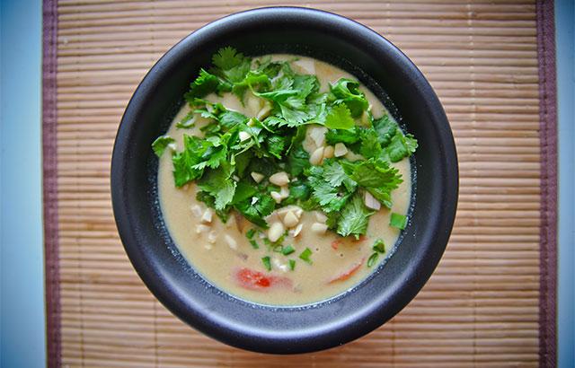 spicy thaisuppe med oksekød